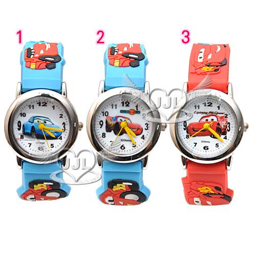 *JJL*台灣製CARS閃電麥坤橡膠錶帶卡通錶兒童錶手錶 3選1 72645851