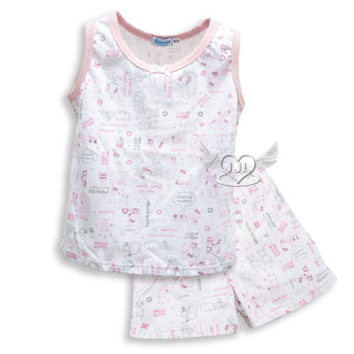 *JJL*台灣製HELLO KITTY純棉滿版成人背心套裝睡衣160/170cm 2選1  9513-P160