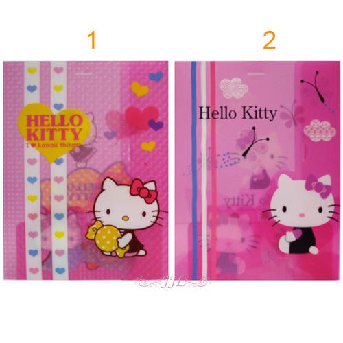 *JJL*台灣製 HELLO KITTY 造型雙面文件夾 資料夾 2選1 91966147
