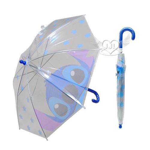 史迪奇透明兒童雨傘長傘直傘  141896*JJL*