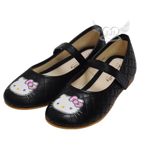 HELLO KITTY菱格兒童娃娃鞋休閒鞋鞋子黑色25~32號台灣製 8選1  95710740*JJL*