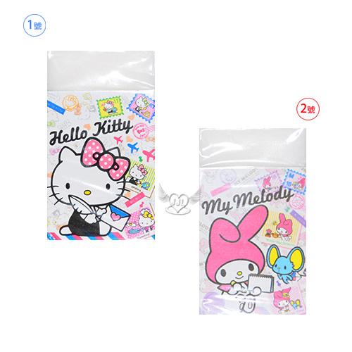 日本製HELLO KITTY美樂蒂橡皮擦擦布 2選1  70432533*JJL*