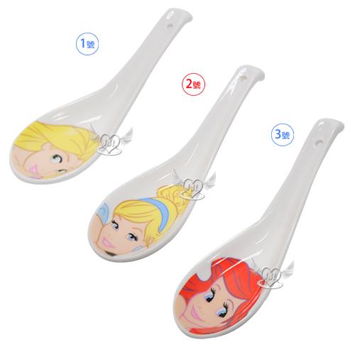 迪士尼公主灰姑娘小美人魚長髮公主陶瓷湯匙 3選1  23232254*JJL*