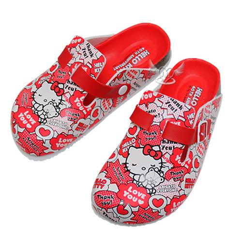 台灣製HELLO KITTY40週年兒童拖鞋紅色15~22cm 8選1  95710490*JJL*