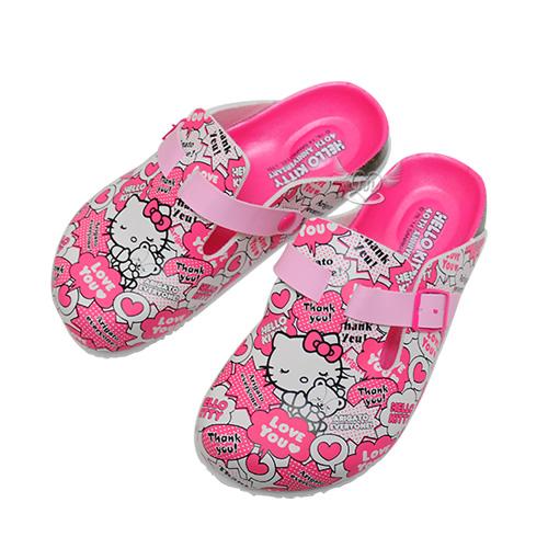 台灣製HELLO KITTY40週年兒童拖鞋粉色15~22cm 8選1  95710500*JJL*
