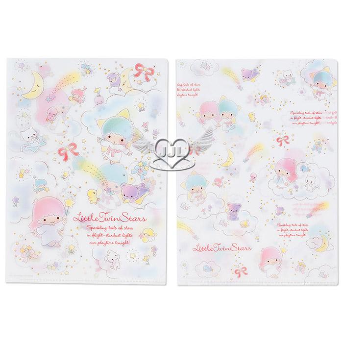日本製雙子星A4文件夾資料夾檔案夾L夾2入彩虹流星系列  770474*JJL*