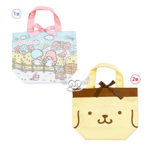 日本製雙子星布丁狗棉布便當袋手提袋餐袋 2選1  10415320*JJL*