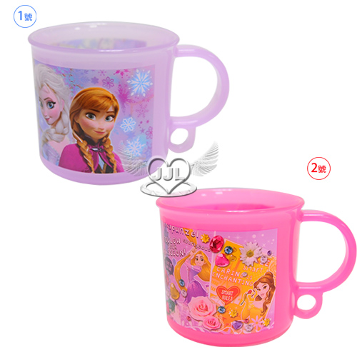 日本製冰雪奇緣迪士尼公主漱口杯塑膠杯子水杯200ml 2選1 07287763*JJL*