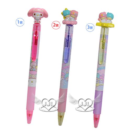 日本製美樂蒂雙子星自動筆自動鉛筆立體公仔40週年紀念 3選1  70458304*JJL*