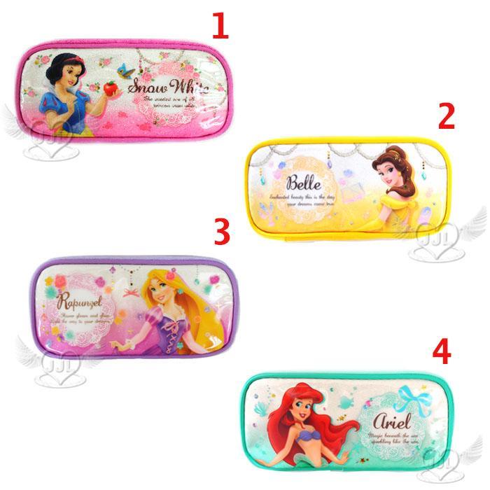 迪士尼公主白雪公主美女與野獸貝兒長髮公主小美人魚筆袋化妝包收納包 4選1  24112574*JJL*