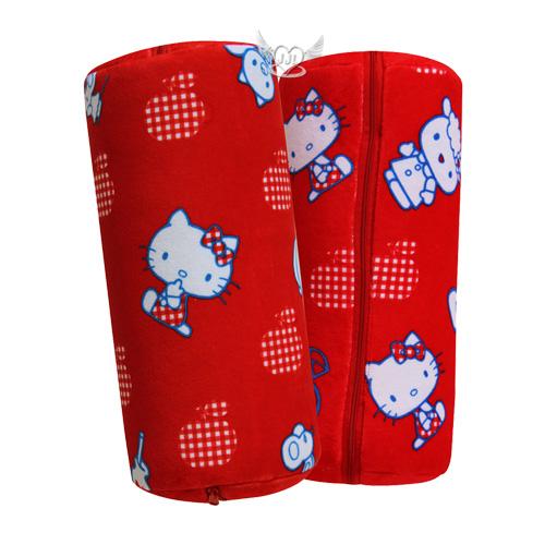 HELLO KITTY兩用圓筒抱枕靠墊靠枕打開是棉被室內汽車兼用  523725*JJL*