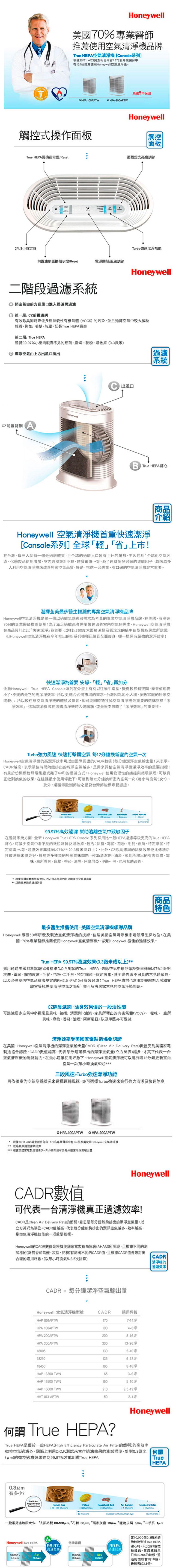 特賣【Honeywell】空氣清淨機 HPA-300APTW