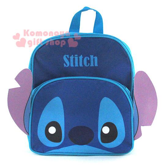 〔小禮堂〕史迪奇 造型兒童後背包《S.藍.大臉.6.5L》