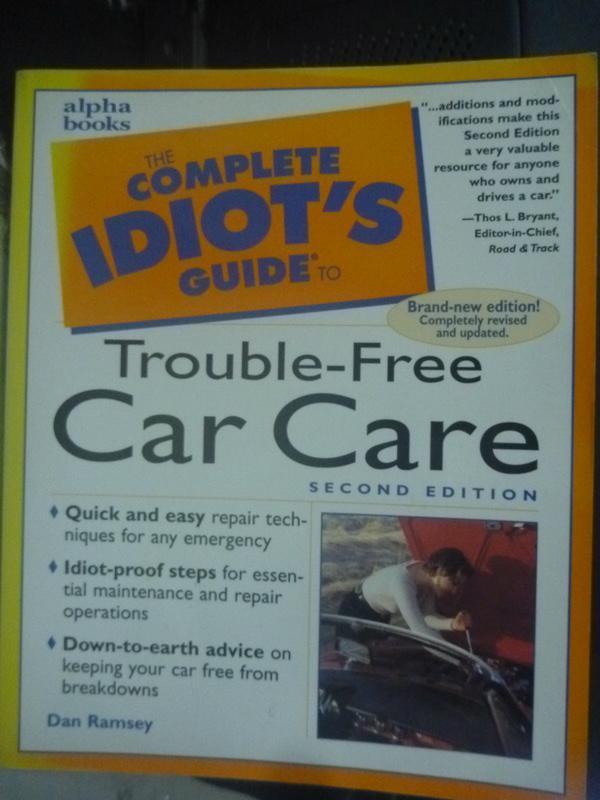 【書寶二手書T5/原文書_WFS】Complete Idiot's Guide to Trouble-Free Car