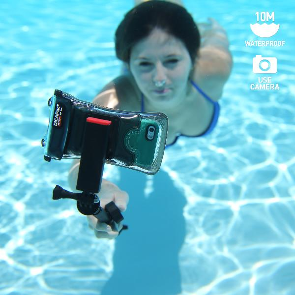 DiCAPac WP-C2A多功能手機防水袋(5.7吋)-黑色