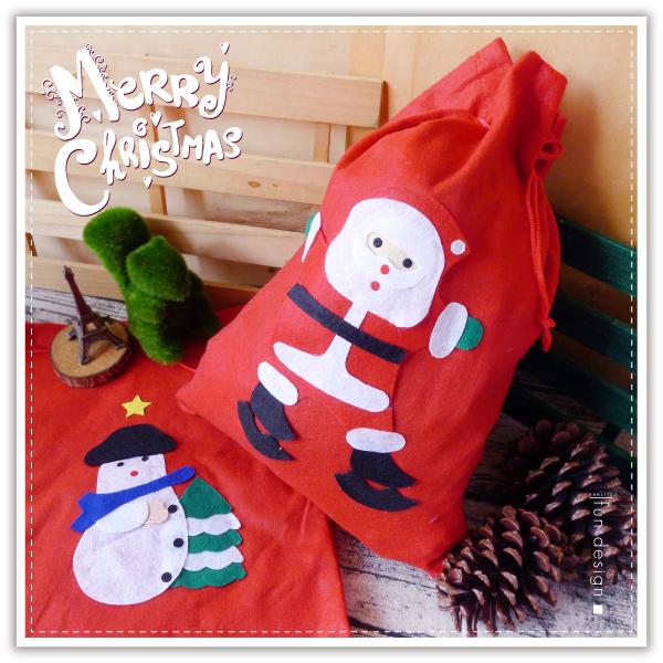 【aife life】聖誕不織布禮物包/聖誕禮物袋/聖誕老人 背包/束口袋/聖誕樹/聖誕燈/聖誕帽/聖誕裝/交換禮物