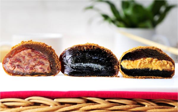 杏芳食品 團購冰Q麻糬團購組(花生4盒+芝麻4盒+紅豆4盒)