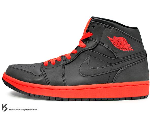 [24%OFF][28cm] 2014 經典重現 復刻鞋款 NIKE AIR JORDAN 1 MID INFRARED 23 男鞋 黑紅 3M 反光 鞋面 螢光紅 AJ 八孔 (554724-043) !