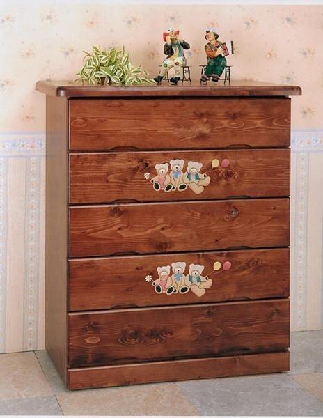 【尚品傢俱】806-03 羅茲 小熊半實木五斗櫃/收納櫃/衣櫃