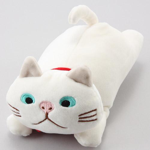 日本代購預購 日本喵星人 貓咪造型 白貓玩偶娃娃抱枕 S號15cm 滿600免運 809-318