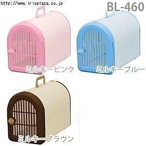★優逗★【日本 IRIS】 BL-460 狗貓外出提籠 / 附背帶 (咖啡/紅/藍)
