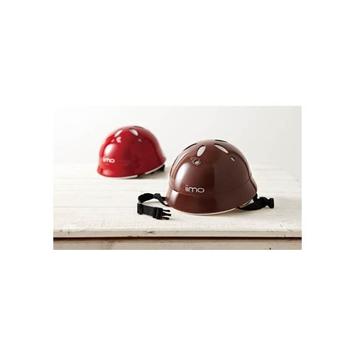 ★衛立兒生活館★日本iimo 兒童安全帽(紅色/棕色)