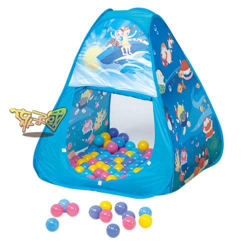 【孩子國】三角帳篷折疊遊戲球屋送200球