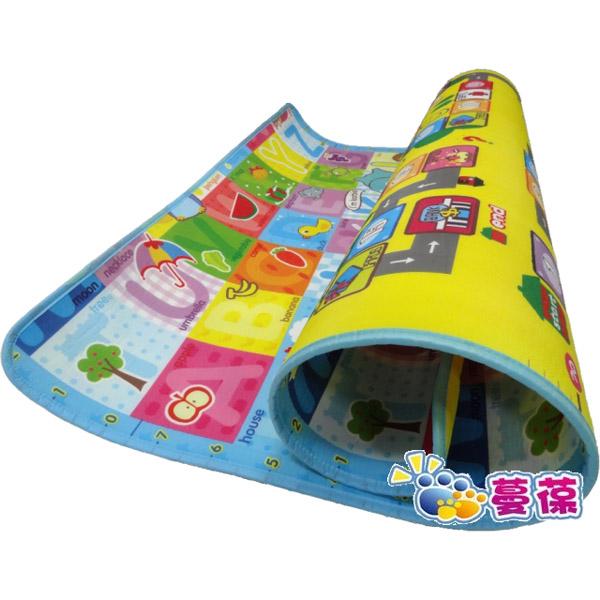 《孩子國》大富翁+字母雙面萬用地墊附贈充氣骰子