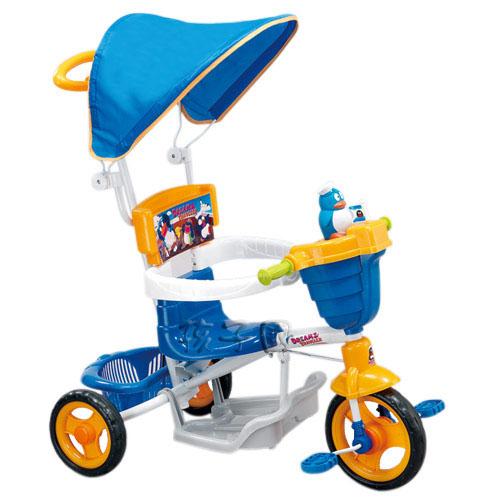 【孩子國】小企鵝三輪車/手推車(藍)
