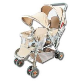 美國MONARCH豪華嬰兒雙人推車~ * 雙篷型 *