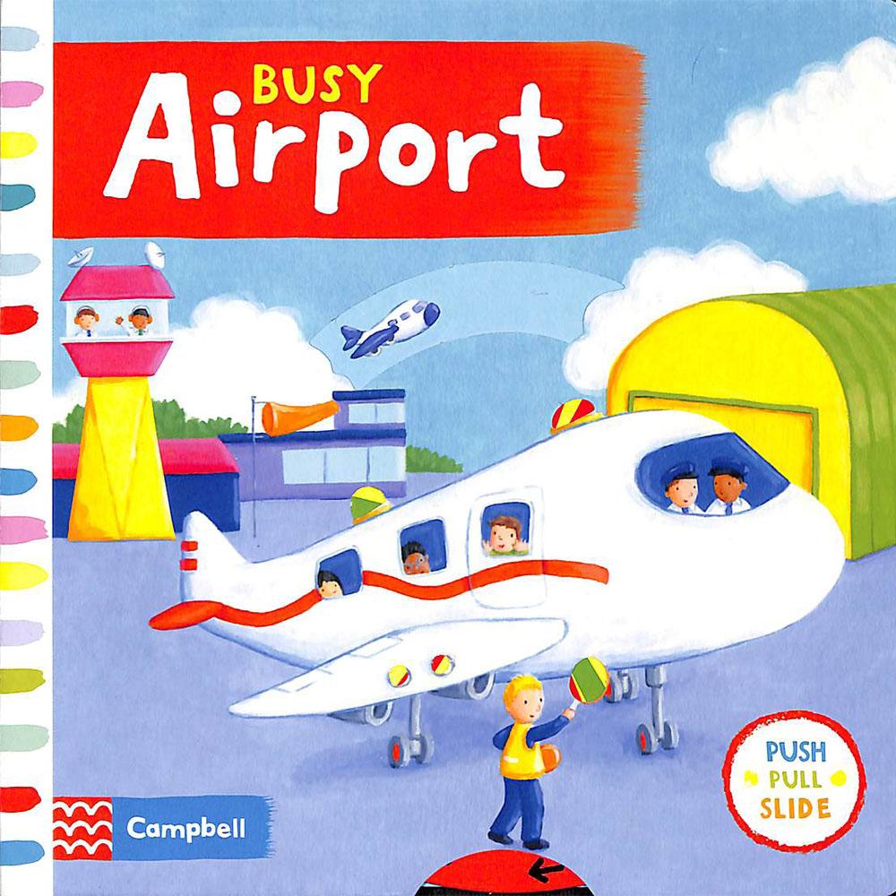 Busy Airport 匆忙的機場 硬頁操作拉拉書