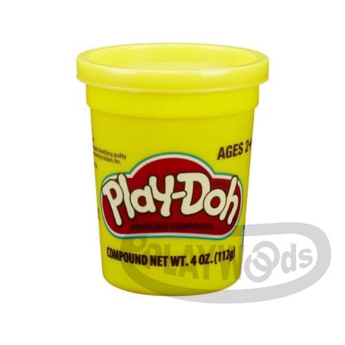 【Playwoods】[PLAYDOH][孩之寶-培樂多黏土]原料 繽粉色罐 4盎司單罐 黃色(DIY/安全無毒/Hasbro)