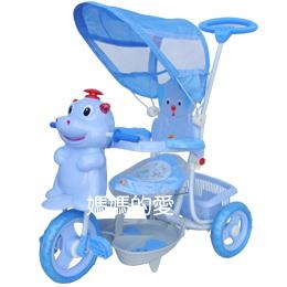 【媽媽的愛】Mother's Love 3202河馬IC帆蓋三輪車