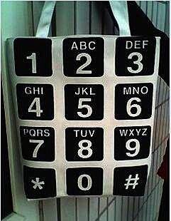 =優生活=手機按鍵 按鈕側背包 補習袋 個性時尚鍵盤帆布包 手提包