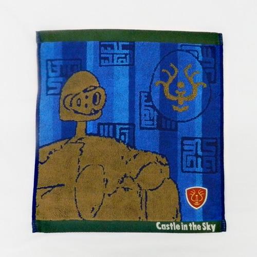 【真愛日本】16100500047純棉大方巾-天空石徽章神兵藍    守城機器人 LAPUDA 天空之城   毛巾  居家用品 衛浴