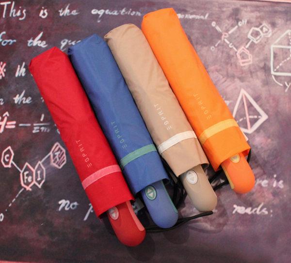 素色自動太陽傘遮陽傘防紫外線晴雨傘 兩用傘