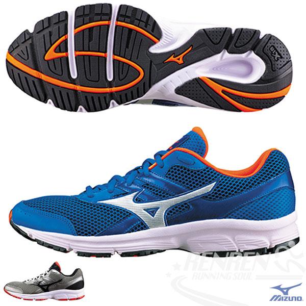 MIZUNO 美津濃 男慢跑鞋  SPARK  慢跑路跑 (藍*銀)基本入門型鞋款