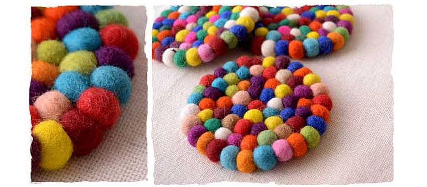KAZMI 韓國 | 彩色羊毛氈墊-圓形(S) | 秀山莊(WS701)