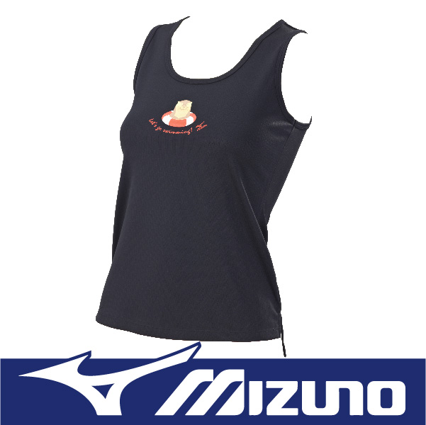 萬特戶外運動 MIZUNO美津濃 N2TA670309 女運動背心-水獺 吸汗快乾 抗紫外線UPF30 黑色