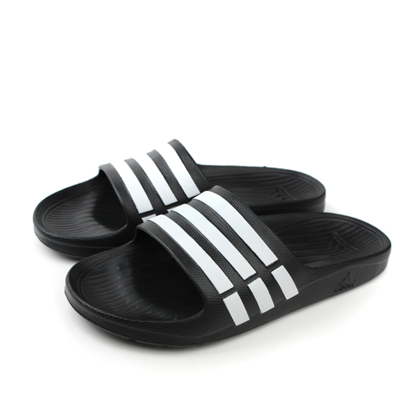 adidas 拖鞋 黑白色 男女鞋 no315