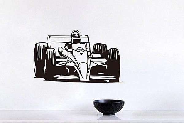 BO雜貨【YV2797】可移動 時尚組合相框壁貼 牆貼 壁貼紙 創意璧貼 黑 賽車 方程式賽車