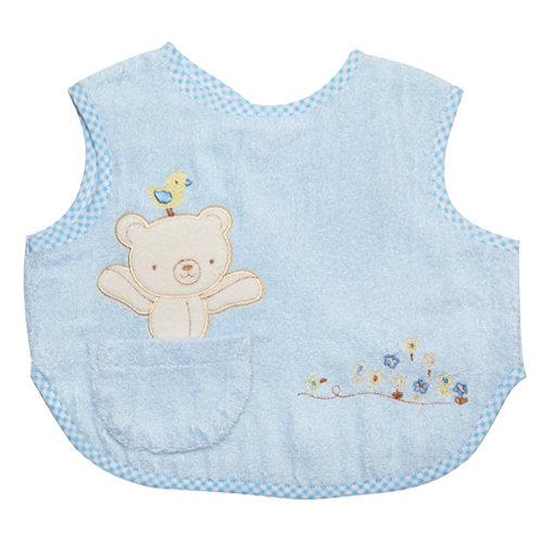 Baby City娃娃城 - 歐洲熊大圍兜 (藍色)