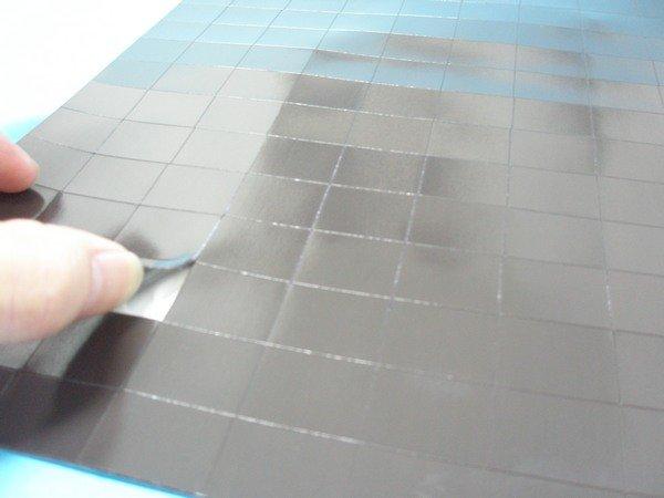 旻新大背膠切割軟磁片NG.507磁鐵片 背膠軟磁片(已切割.小片2cm x 2.5cm)/一小包入{定150}