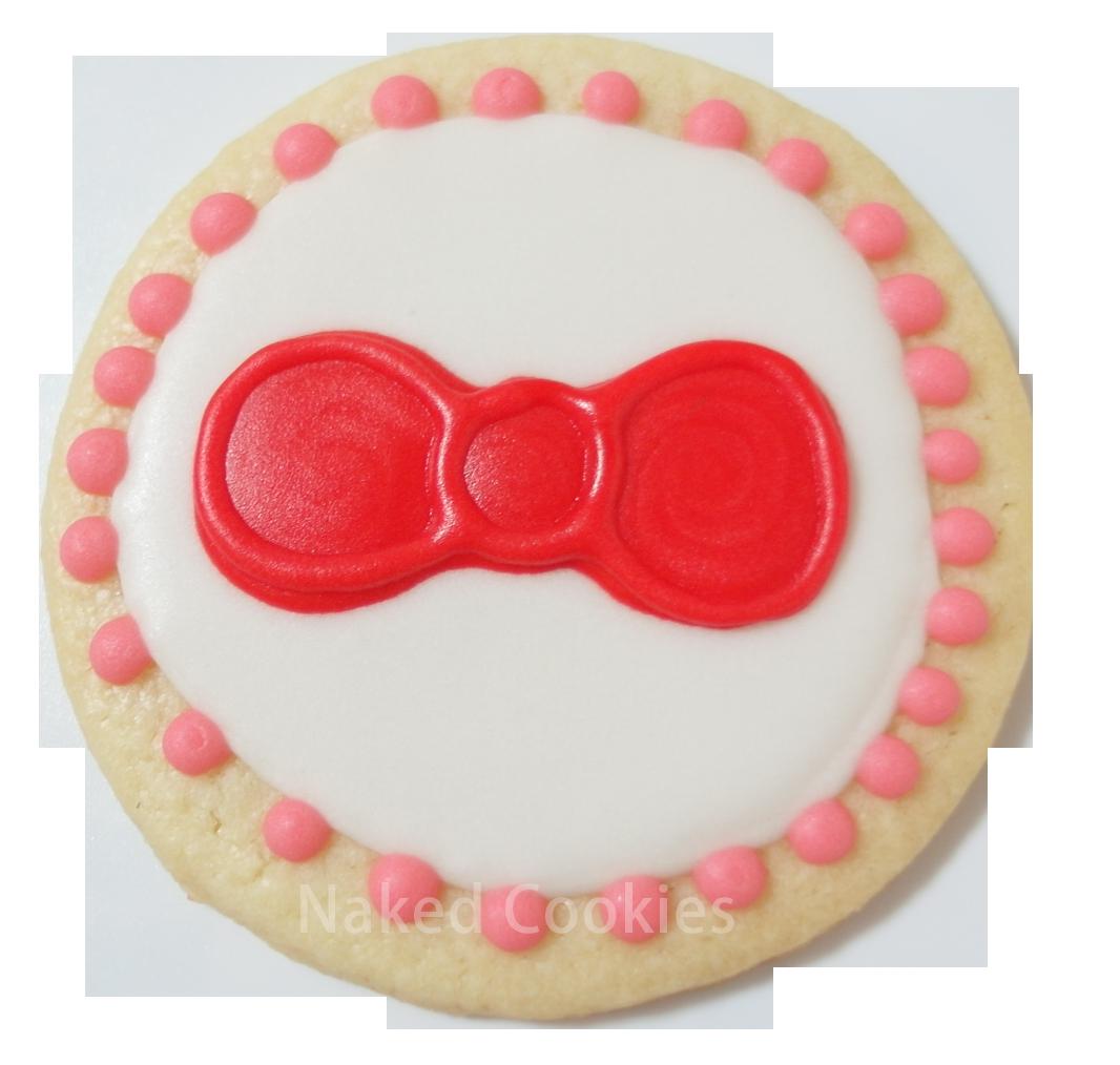 【裸餅乾Naked Cookies】Kitty紅蝴蝶結-特殊客製6入-創意手工糖霜餅乾,婚禮/生日/活動/收涎/彌月
