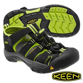 【預購】Keen Newport H2 兒童護趾水陸 兩用鞋 黑/螢光綠 1009942
