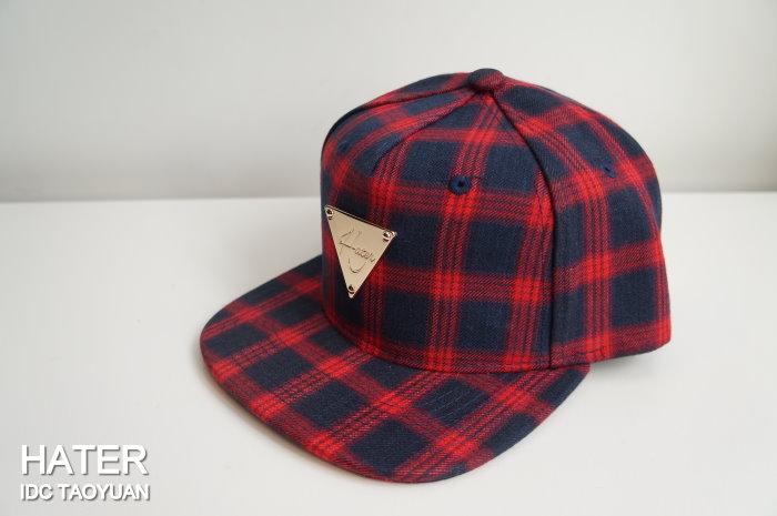 ►法西歐_桃園◄ HATer Snapback Fannel Plaid 法蘭絨紅格紋 格紋 紅 經典 排扣 棒球帽