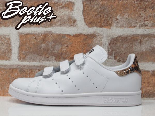 BEETLE ADIDAS ORIGINALS STAN SMITH CF W 全白 魔鬼氈 蛇紋 女鞋 S81389