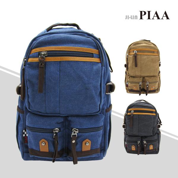 83-8147《PIAA 皮亞》造型三口袋雙肩背包 (三色)