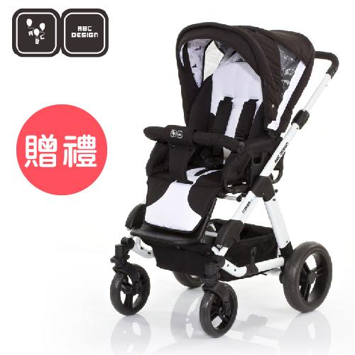 【好禮五選二】德國【ABC Design】TURBO4S 嬰兒推車(黑白款)(蚊帳/雨罩-11月寄出)