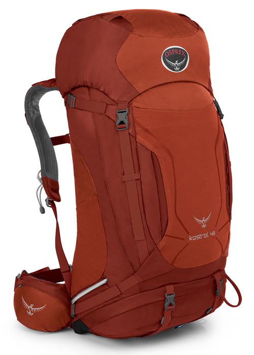 【鄉野情戶外專業】  Osprey |美國|  Kestrel 48 登山背包/自助旅行中背包-火紅M/L/Kestrel48  【容量48L】